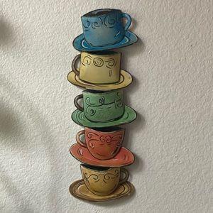 Tin Coffee/Tea Cup Wall Decor